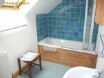 Holiday cottage, Solva - bathroom with full suite & shower over bath