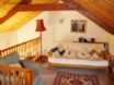Upstairs lounge at Cysgod y Ffynnon's cosy cottage for 2