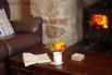 Sit back and enjoy the warmth of the woodburning stove