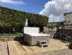 Pitcairlie Hot tub showing decking platform