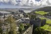 Walled town of Conwy with narrow streets and historic buildings