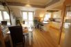 Open plan kitchen and dining area - also on the top floor