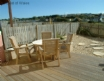 Enclosed garden area at this luxury holiday cottage by the sea