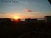 Luxury holiday cottage by the sea - sunset from the balcony