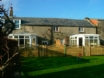 Sunny conservatory & courtyard (right) from private enclosed play area