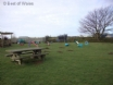 Children's play area and trampoline at Bwthyn Ysgubor cottage