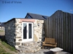 St Davids holiday cottage for two - private patio area with views