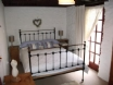 Double bedroom at Yr Hen Efail's quirky holiday cottage, Mid Wales
