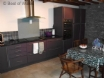 Oak & aubergine kitchen units including halogen hub & double oven