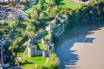Chepstow Castle from above -  only a short drive away form the cottage