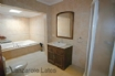 Ensuite with walk in corner shower and  jacuzzi bath