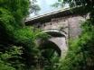 Devil's Bridge has three separate bridges built upon each other