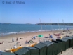 Abersoch main beach - ideal for bathers and watersports lovers alike.