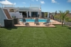 The delectable Villa Keira in Playa Blanca, rear garden and swimming pool