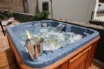 Champagne in the jacuzzi, Atlantic Ocean and mountain views, yes please!
