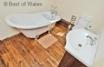 Master bathroom includes stylish freestanding bath