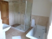 Bathroom 1: Free standing bath & separate shower cubicle.