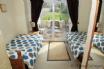 Twin room with double doors to garden