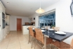 Modern kitchen with dining area