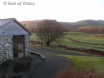 Beautiful countryside views from this cosy accommodation in Mid Wales