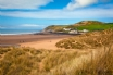 Croyde Bay and golden sandy beach