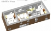 First Floor: 3D floor plan for Rhyd y Gorlan