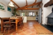 Amazing kitchen and dining room with woodburner