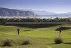 Abersoch's 18 hole golf course, adjoining the beach