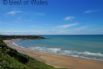 From this detached, sea view holiday cottage Nefyn beach is within walking distance