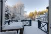 Duck Pond Lodge Winter wonderland - view from Decking