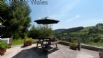 Enjoy magnificent views of the Ceiriog valley from the East terrace