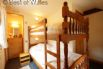 Also upstairs - full size bunks beds, alcove with drawer unit and mirror