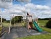 Enclosed play area and garden toys to keep the children entertained