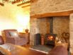 Snug area at this welcoming holiday cottage in North Wales