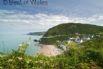 Tresaith beach from the coastal path