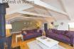 Stylish lounge with log burner - Holiday Cottage in Tresaith