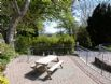 Stabal y Sarn has its own patio area and table overlooking the garden