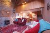 Open plan living area with a double height lounge