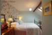 Bedroom 6: Victorian brass and iron double bed with new, luxury Egyptian Cotton bedding