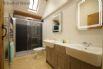 Bathroom - Large double shower, toilet & twin Belfast wash basins