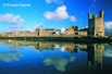 The majestic castle and ancient mediaeval walls at Caernarfon