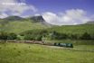 The Welsh Highland Railway travels from Caernarfon to Porthmadog