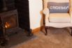 Welcoming woodburner in the cosy, scenic lounge