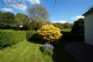 Beautiful enclosed garden with scenic surroundings